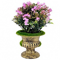Artificial Pink Spring Flowers in a Decorative Vase