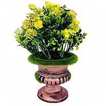 Artificial Yellow Spring Flower in a Decorative Vase