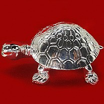 Silver Wax Tortoise for Goodluck -3 Inch Tall