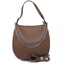 Stylish Ladies Apricot Color Hobo Bag