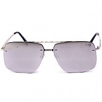 Silver Lens Stylish Metal Frame Sunglasses