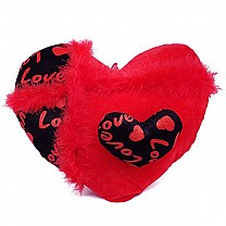 Double Heart Red Cushion