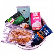 Food Gift Hamper With in Stainless Steel Tray