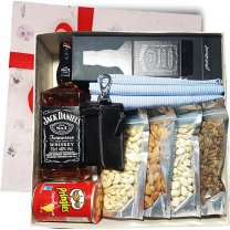 JD With Dry Nuts Gift Box (Shirt Piece and Keyring Included)