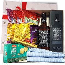 JD With Shirt Piece & Snacks Gift Box