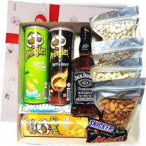 JD Whisky 750ml, Dry Nuts Celebrations Gift Box