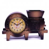 Attractive Design Table Top Alarm Clock with Pen Holder