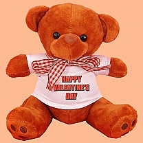 "Teddy Bear With ""Happy Valentine's Day"" Message T-shirt"