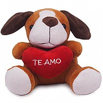 Cute Mini Puppy Soft Toy 5'' (Te Amo)