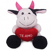 Cute Mini Cow Soft Toy 6'' (Te Amo)