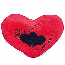 "Valentine's Day Red Heart Cushion ''I Love You"" Printed"