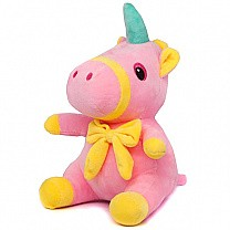 Cute Mini Unicorn Soft Toy 9.5''- Pink