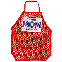 ''The Best Mom in The World '' Printed Kitchen Apron
