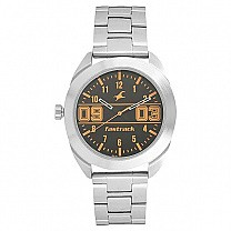 Fastrack Black Dial Silver Analog Watch For Men - 3175SM02