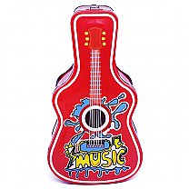 Guitar Design Red Piggy Bank For Kids 9''
