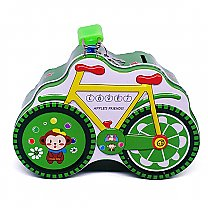 Green Bicycle Design Cute Piggy Bank 4'' Tall