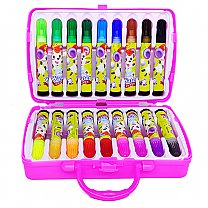 18 Pcs Color Set Box For Kids - Pink