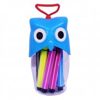 Owl Design 12 Pcs Color Set For kids - Blue