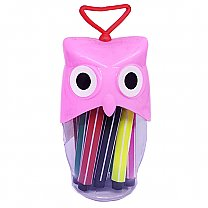 Owl Design 12 Pcs Color Set For kids - Pink