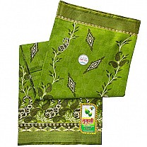 Green Paisley Design Cotton Saree