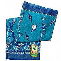 Blue Paisley Design Cotton Saree