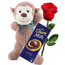 Cadbury Dark Milk Chocolate With Rose & Monkey