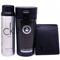 Stainless Steel Vacuum Mug With Body Spray & Wallet