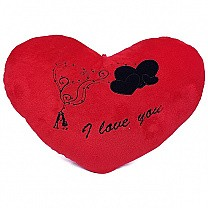 ''I Love You'' Printed Red Heart Cushion