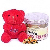Dried Mix Fruits With Cute Mini Teddy Bear 4""