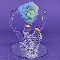 Lovely Mini Couple Glass Showpiece