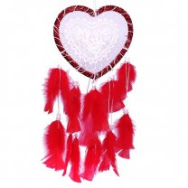 Heart Shaped Glowing LED Light Red Dream Catcher 18''