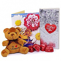 Valentine's Gift Combo With Personalize Greeting Card