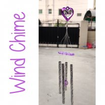 Heart Shaped Good Luck Wind Chime 18''