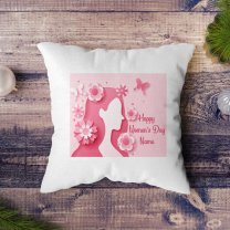 ''Happy Women's Day'' Printed Personalized Cushion Gift