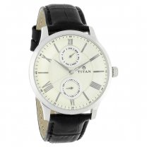 Fastrack Silver Dial Multifunction Watch for Men - 90100SL01