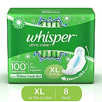 Whisper Ultra Clean XL 8 Pads buy online in Nepal.