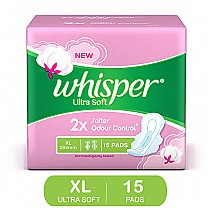 Whisper Ultra Soft Odour Control XL 15 Pads buy online in Nepal.