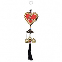 Love Heart Hanging Decorative Wind Chime