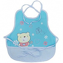 Winnie The Pooh Design Apron For Baby - Blue