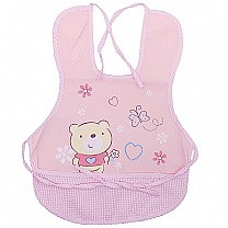 Winnie The Pooh Design Apron For Baby - Pink