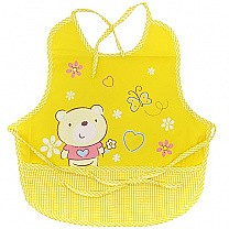 Winnie The Pooh Design Apron For Baby - Yellow