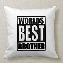 """World's Best Brother"" Printed Cushion"