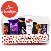 Assorted Chocolates Gift in Beautiful Love Box (Free Sanitizer)