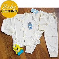 Yellow 2Pcs Cotton Apparel For Baby (Three Sizes Available)