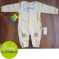 Yellow Baby Jumpsuit With Bib (3-9 Months)