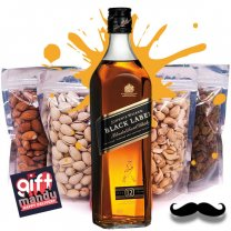 JW Black Label Whisky 1000ml & Four Dry Nuts Fruits Pack