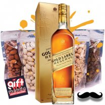 JW Gold Label Reserve Whisky 750ml & Four Dry Nuts Fruits Pack