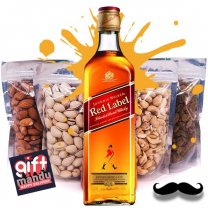 JW Red Label Whisky 1000ml & Four Dry Nuts Fruits Pack