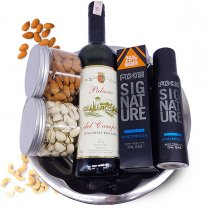 Sweet Red Wine, Dry Nuts & Axe Body Spray Gift Tray