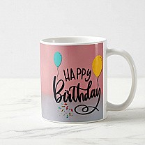 Happy Birthday Printed Coffee Mug